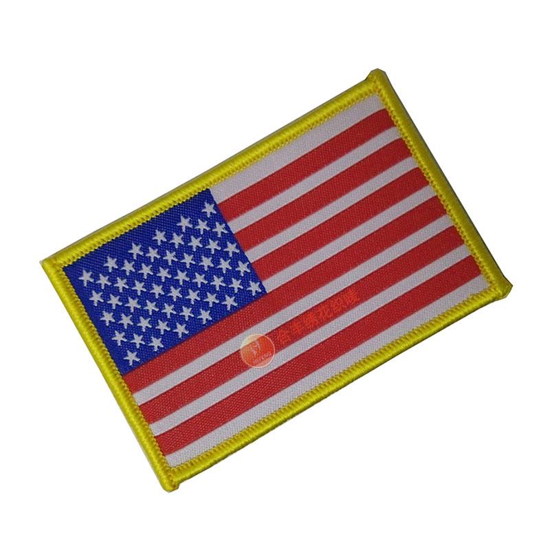 国旗织章、国旗织唛章、锁边国旗织章